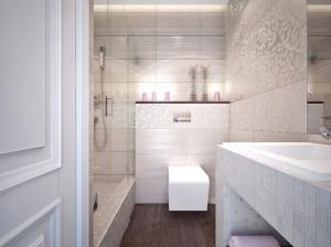 Интерьер ванной комната квартиры в романтическом стиле