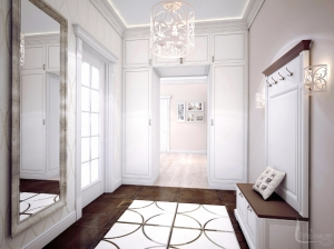 Интерьер прихожей квартиры в романтическом стиле