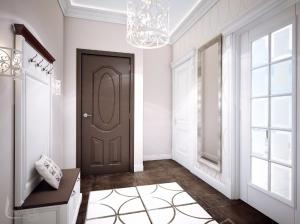 Прихожая квартиры в романтическом стиле