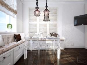 интерьер кухни в романтическом стиле