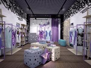 Дизайн интерьера магазина для девушек