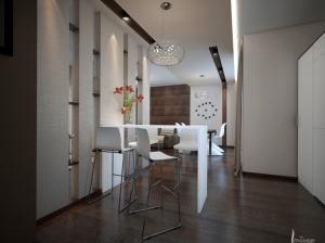 современный интерьер кухня квартира