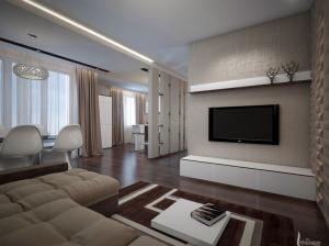 современный интерьер гостиной квартира