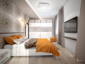 современный интерьер спальня квартира