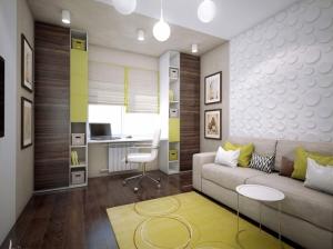 современный интерьер кабинета квартира