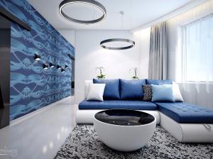 Интерьер гостиной в футуристическом стиле