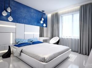 Интерьер спальни квартиры в футуристическом стиле