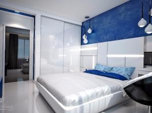 Спальня квартиры в футуристическом стиле