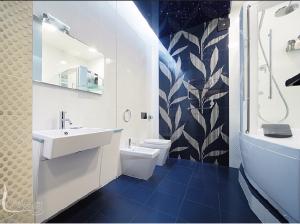 Дизайн интерьер ванной комнаты в футуристическом стиле