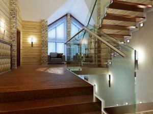 интерьер лестницы современный стиль