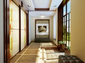 интеьрер холла коттедж современный стиль