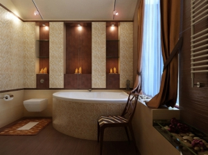 интерьер ванной комнаты в современном стиле коттедж