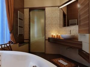 коттедж ванная комната в современном стиле