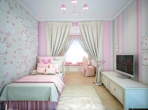 розы в интерьер спальни для девочки