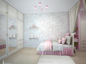 интерьеры спальни для девочек розы
