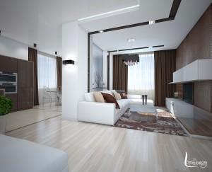 дизайн интерьера гостиной пример