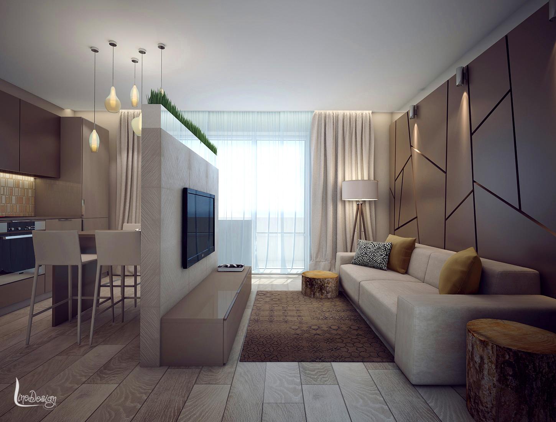 Дизайн интерьера гостиной в