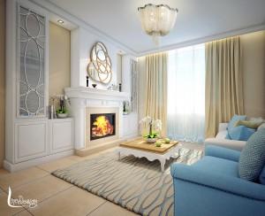 Интерьер квартиры в американской классике