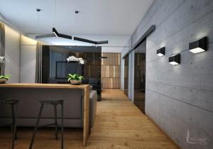 Интерьер квартиры Grey & Wood - Дизайн интерьера Екатеринюбург - linedesign.info